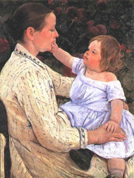 The Child`s Caress, 1890 - Mary Cassatt