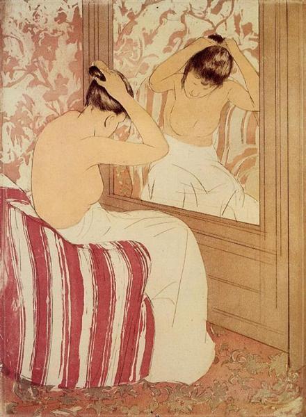 The Coiffure study, 1890 - 1891 - Mary Cassatt