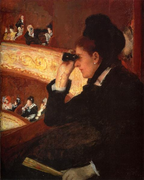 The Opera, 1877 - 1878 - Mary Cassatt