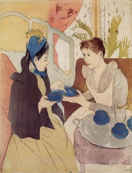 The Visit, 1890 - 1891 - Mary Cassatt