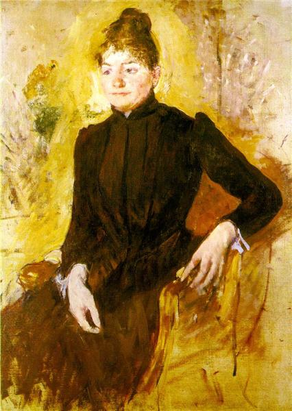 Woman in Black, c.1882 - Mary Cassatt