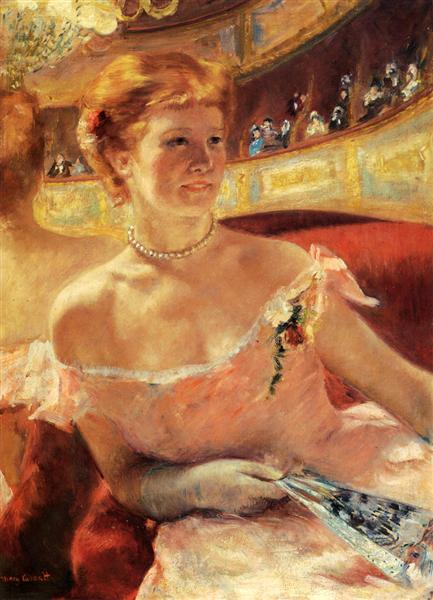 Woman with a Pearl Necklace - Cassatt Mary