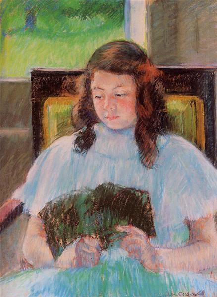 Young Girl Reading, 1908 - Mary Cassatt