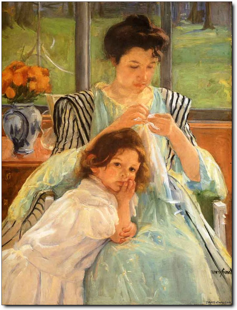 Young Mother Sewing 1900 Mary Cassatt