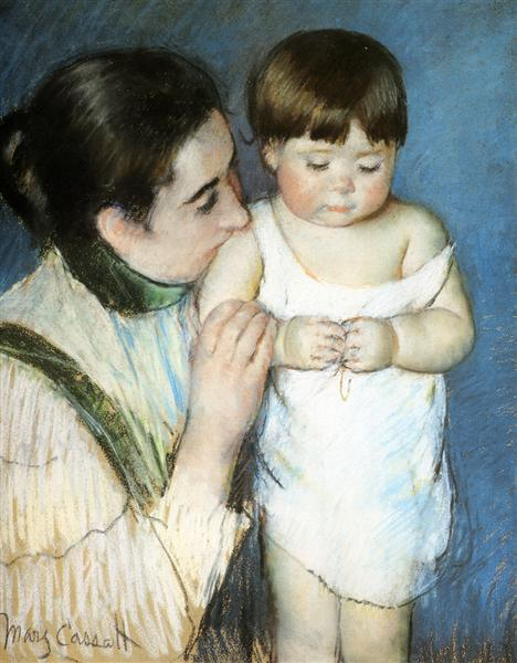 Young Thomas And His Mother, 1893 - Mary Cassatt