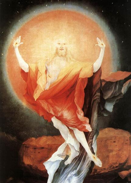 The Resurrection of Christ (detail from the right wing of the Isenheim Altarpiece), c.1512 - c.1516 - Matthias Grünewald