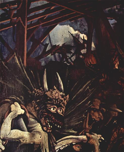The Temptation of St. Anthony (detail), c.1512 - c.1516 - Matthias Grünewald