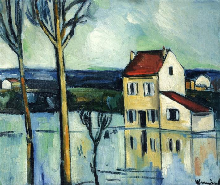 House on the Banks of a River, 1908 - 1909 - Maurice de Vlaminck