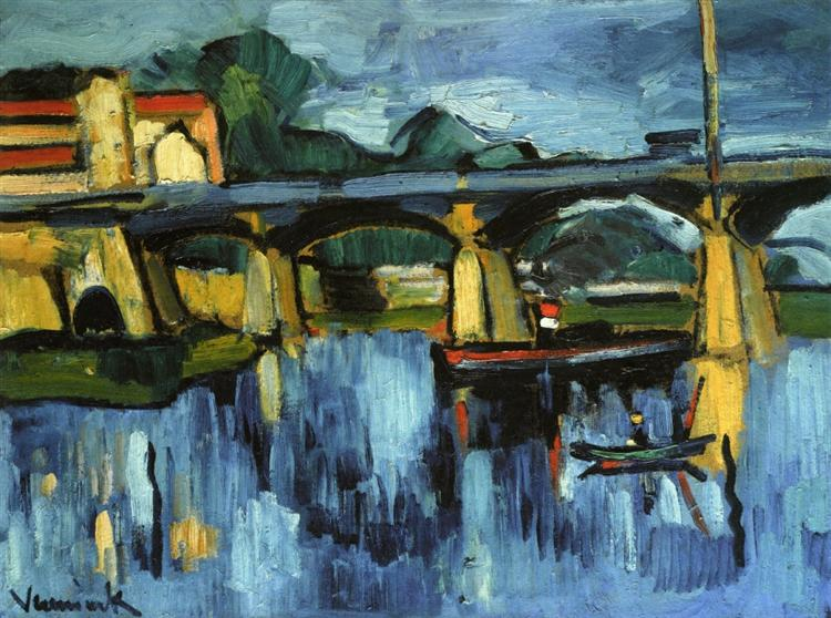 The Bridge at Chatou, 1906 - Maurice de Vlaminck