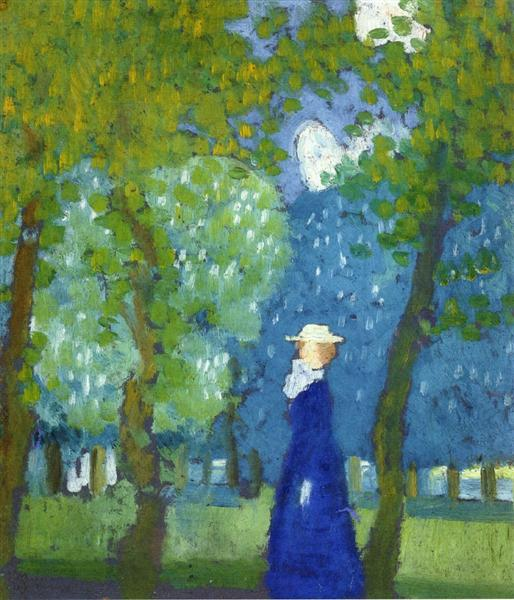 Woman in Blue, 1899 - Maurice Denis