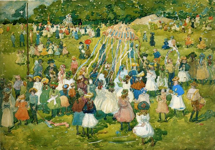 May Day, Central Park, 1901 - Maurice Prendergast