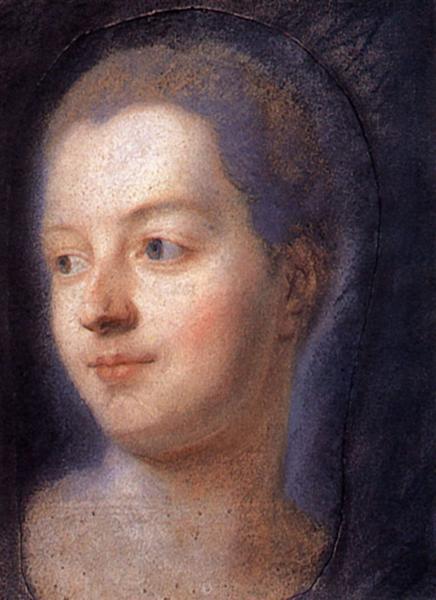 Portrait of Madame de Pompadour, 1752 - Quentin de La Tour