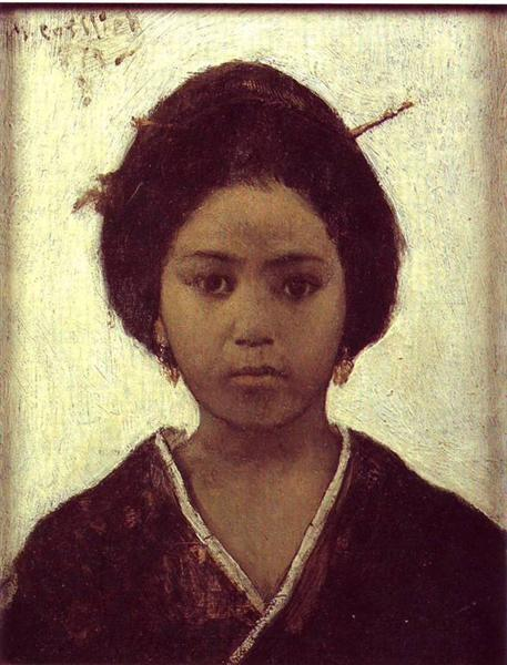 Japanese Woman, 1879 - Maurycy Gottlieb