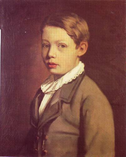 Portrait of a Boy from the Gottlieb Family, 1875 - Мауриций Готтлиб