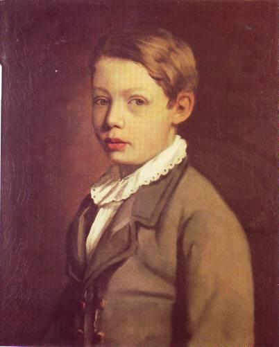 Portrait of a Boy from the Gottlieb Family, 1875 - Маврикій Готтліб