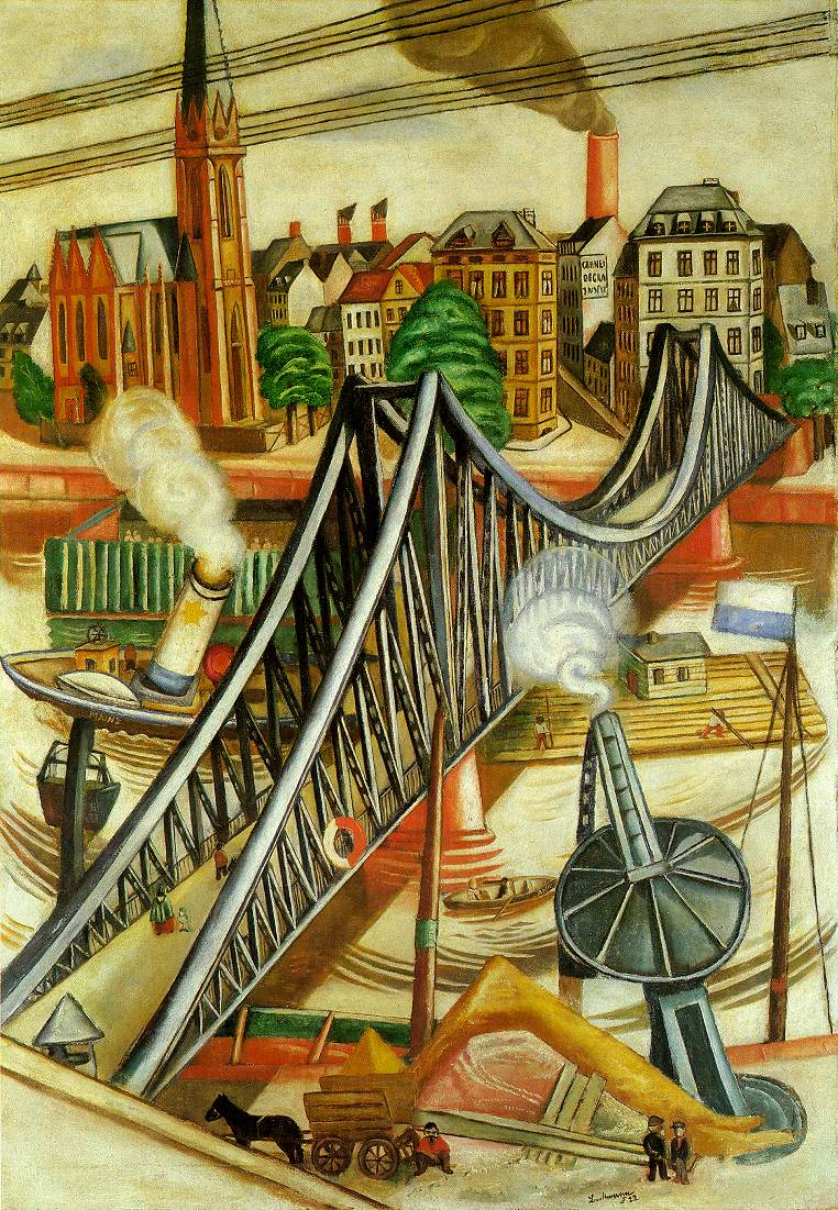 the iron bridge view of frankfurt 1922 max beckmann. Black Bedroom Furniture Sets. Home Design Ideas