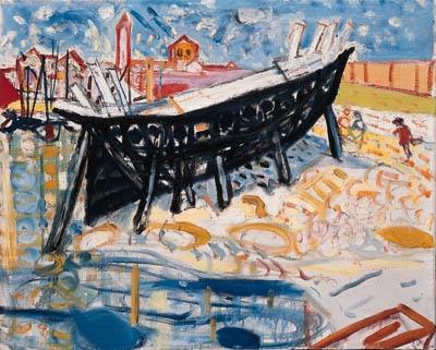 Schiff bei Palestrina - Max Gubler