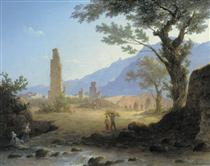 Italian Landscape - Maxim Nikiforowitsch Worobjow