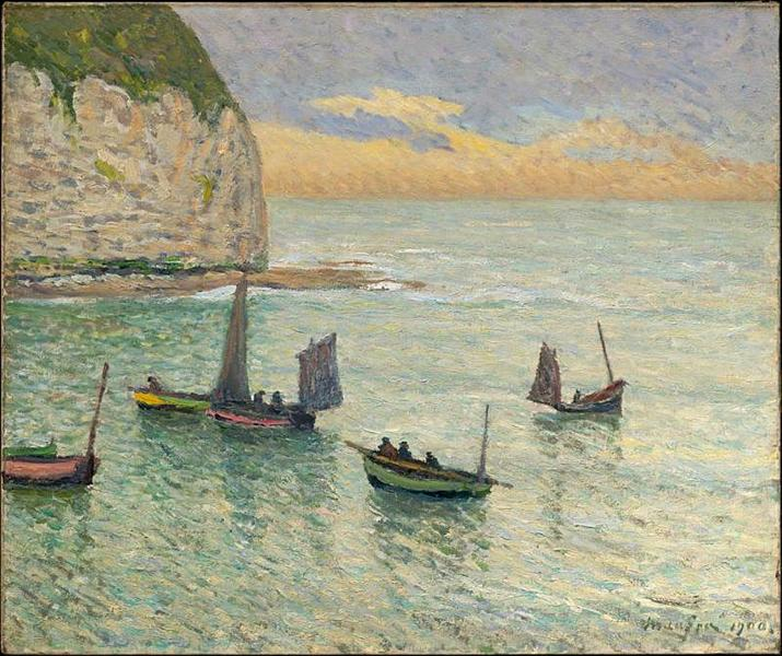 Departure of Fishing Boats - Maxime Maufra