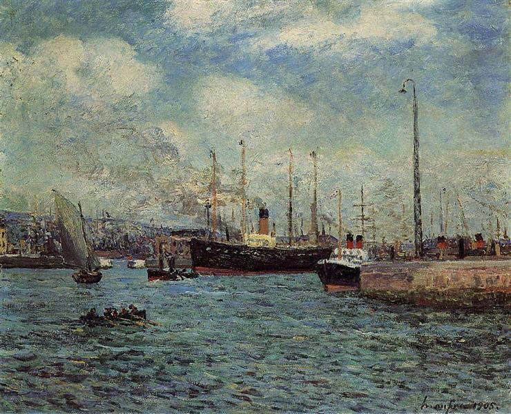 The Port of Havre, 1905 - Maxime Maufra