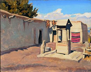 Old Patio, 1931 - Maynard Dixon