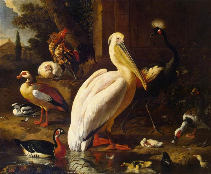 Birds in a Park, 1686 - Melchior d'Hondecoeter