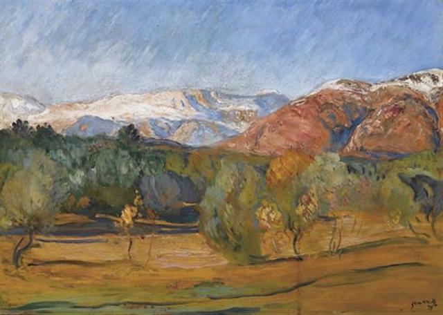 Alpes Maritimes Landscape, 1928 - Michel Simonidy