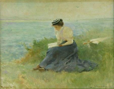 Femeie pe malul mării - Michel Simonidy