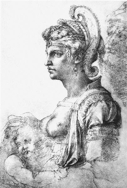 Allegorical figure, 1530 - Michelangelo