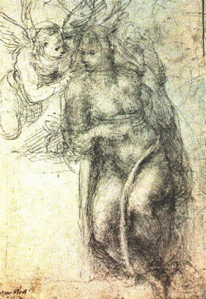 Annunciation (study), 1547 - Michelangelo