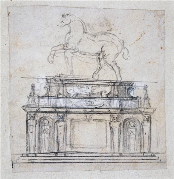Design for a statue of Henry II of France, c.1559 - Michelangelo