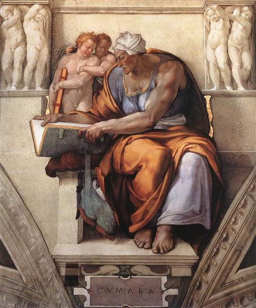 Sistine Chapel Ceiling: Cumaean Sibyl, 1510 - Michelangelo