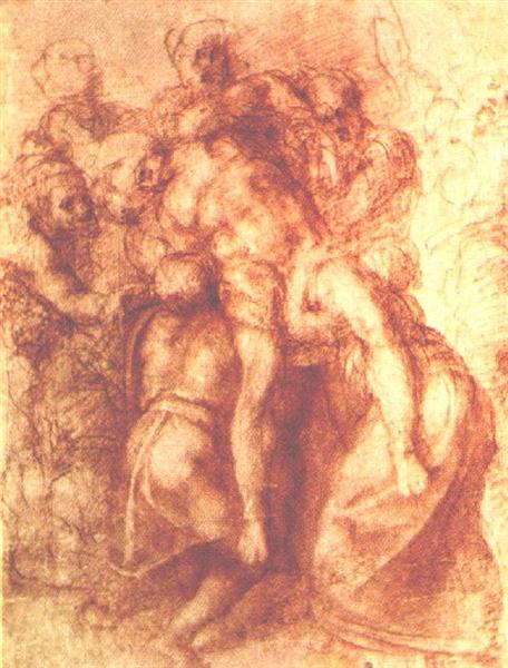 "Study to ""Pieta"", 1555 - Michelangelo"