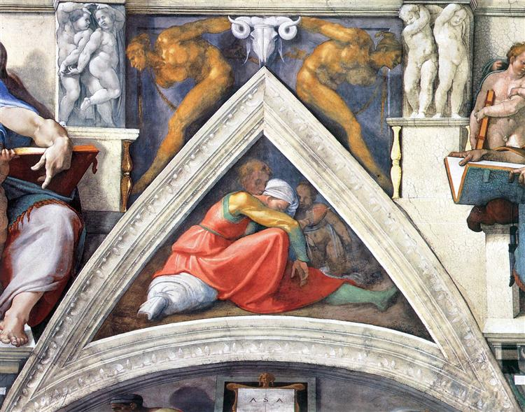 The Ancestors of Christ: Asa, 1509 - Michelangelo