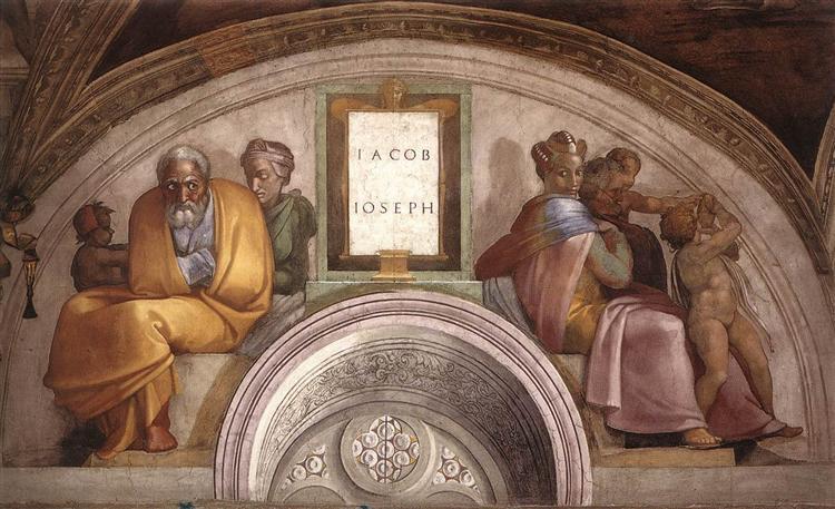 The Ancestors of Christ: Jacob, Joseph, 1512 - Michelangelo
