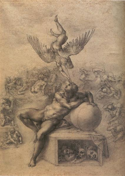 The Dream of Human Life, c.1533 - Michelangelo