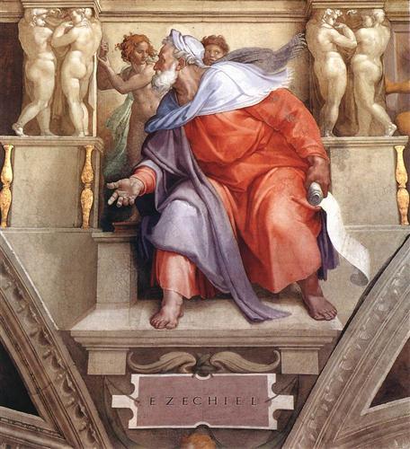 The Prophet Ezekiel - Michelangelo