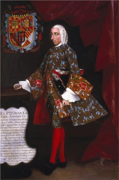 Don Juan Xavier Joachín Gutiérrez Altamirano Velasco, 1752 - Miguel Cabrera