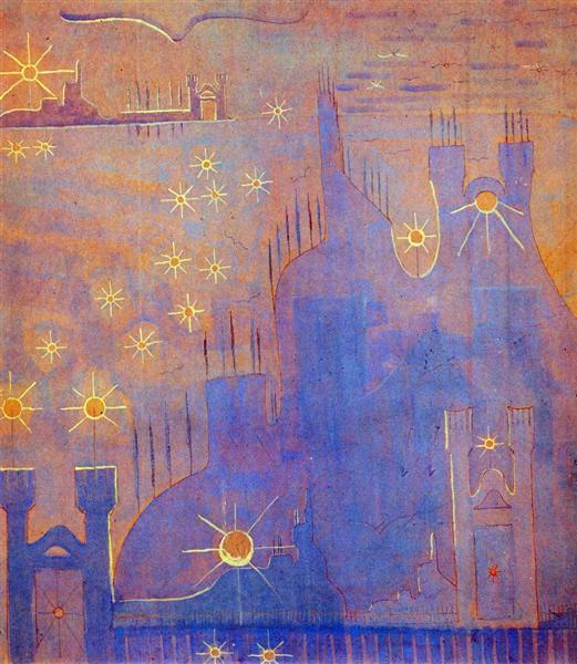 Allegro (Sonata of the Sun), 1907 - Mikalojus Konstantinas Ciurlionis