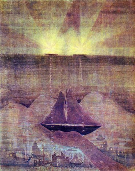 Andante (Sonata of the Sea), 1908 - Mikalojus Konstantinas Ciurlionis