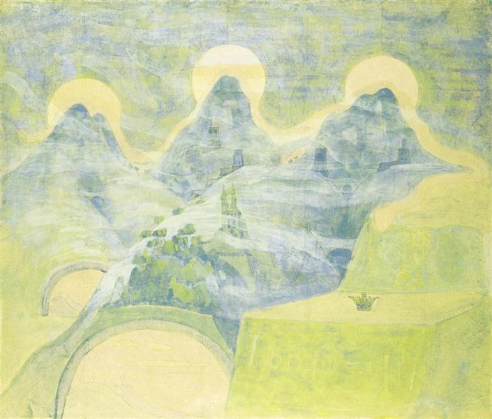 Finale (Sonata of the Serpent), 1908 - Mikalojus Konstantinas Ciurlionis