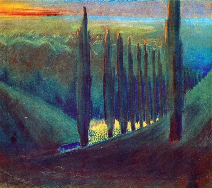 Funeral Symphony (IV), 1903 - Mikalojus Konstantinas Ciurlionis