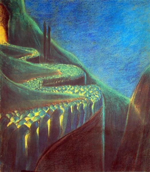Поховальна симфонія (VI), 1903 - Мікалоюс Чюрльоніс