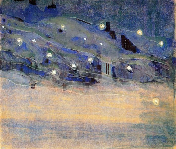 Sparks (III), 1906 - Mikalojus Konstantinas Ciurlionis