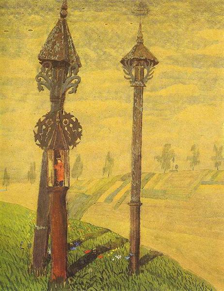 Wayside Crosses of Zemaitija, 1909 - Mikalojus Konstantinas Ciurlionis
