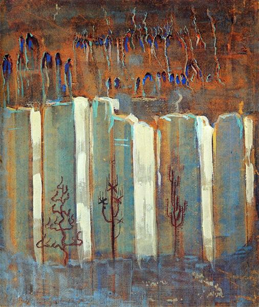 Winter (III), 1907 - Mikalojus Konstantinas Ciurlionis
