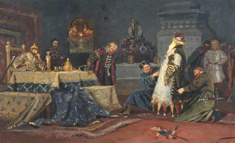 Clownish coat. Boyar Morozov A. in front of Ivan the Terrible, 1885 - Mikhail Nesterov
