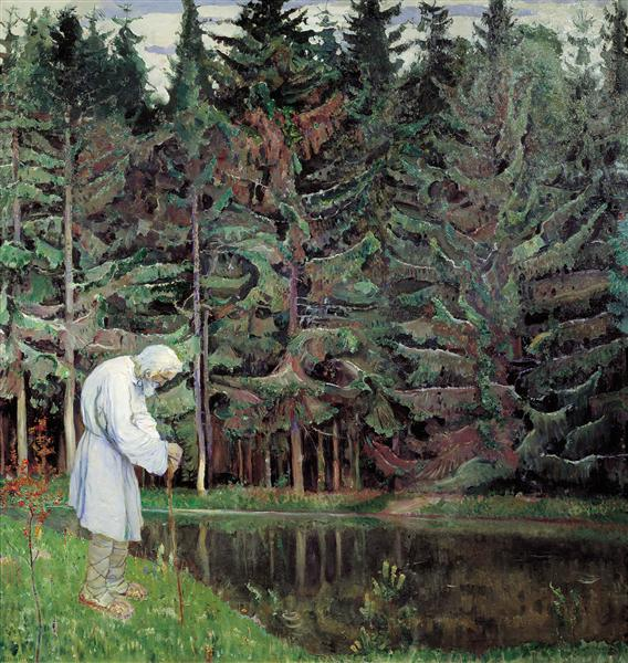 Elder (Abraham, the Servant of God), 1914 - Mikhail Nesterov