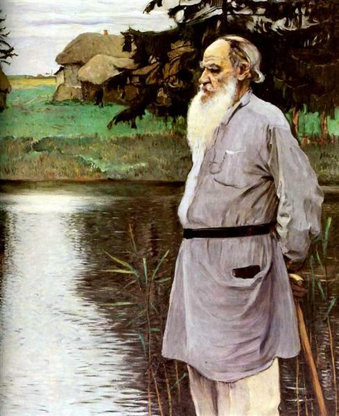 Portrait of Leo Tolstoy, 1907 - Mikhail Nesterov