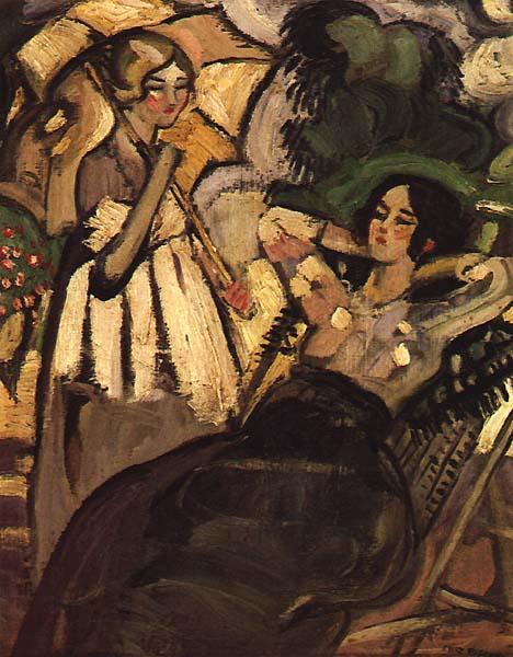 Senhoras num Jardim, 1930 - Mily Possoz